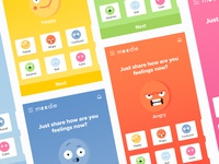 Mood sharing app - Home page