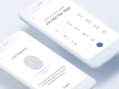 Mobile and finger print login design for mobile app