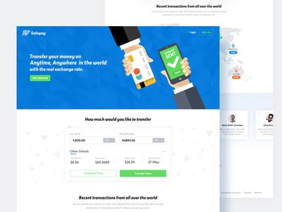 Transfer Money Landing Page Design
