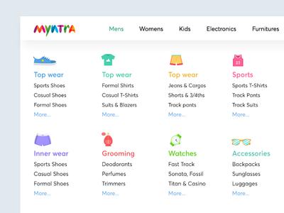 Ecommerce mega menu - wireframe design website shopping big menu nav menu mega menu ecommerce wireframe design ux ui bala ux