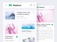 Medium blog UI Design