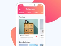 My Collection Mobile App Design