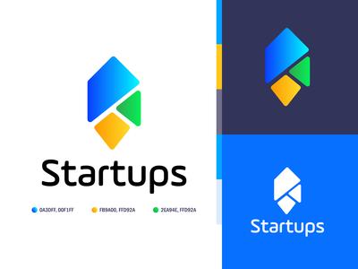 Startups logo design and branding color palette