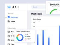 Dashboard UI kit home page