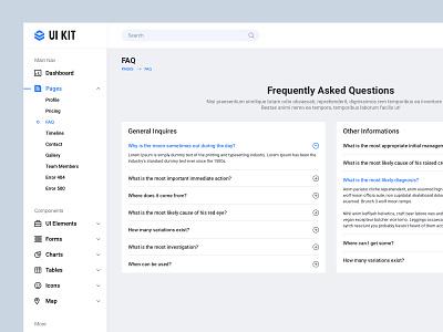 FAQ UI Design web ui kit uikit minimal dashboard design accordion frequently asked questions dashboard app dashboard ui dash dashboard faq design faqs faq ui bala ux