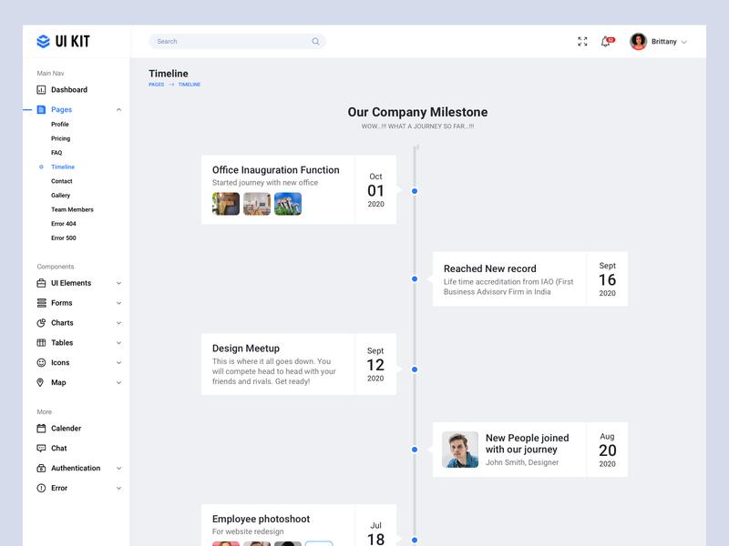 Milestone/Timeline dashboard UI design dashboard design company milestone cards ui cards dailyui timeline ui milestones timeline milestone web minimal app ux design ui bala ux