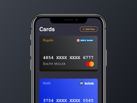 Payment app card add UI design