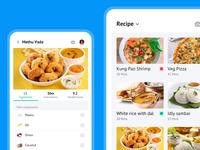 Food recipe app mobile clean minimal app ux design ui food food app design food app ui food app bala ux