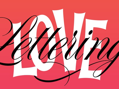 I Love Lettering! workshop vector script type design lettering