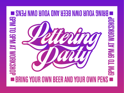Lettering Party! type lettering party vector lettering