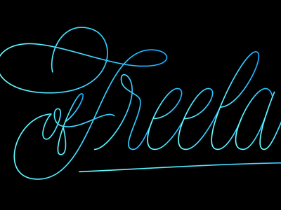A Year of Freelancing freelance vector script type design lettering