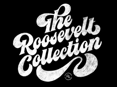 Roosevelt Collection Sketch swashes 70s flourish script lettering