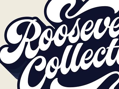 Roooooooooosevelt! swashes 70s flourish script lettering