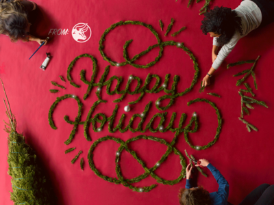 Happy Holidays! dimensional type typography lettering