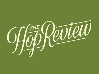 The Hop Review (WIP) vector lettering beer script logotype