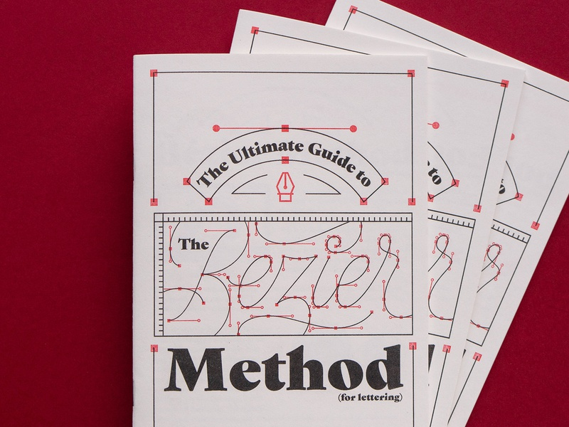 The Ultimate Guide to the Bézier Method (for lettering)! script vector design typography lettering zine