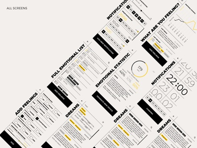 What are you feeling? black and white feeling emotion statistic bauhaus vector web app design typography ui ux