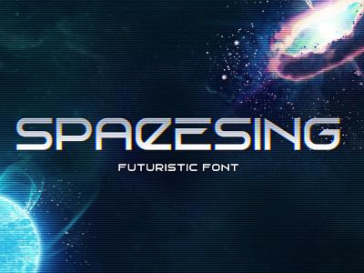 Spacesing. Futuristic font interface ui sci fi sci-fi scifi type space cosmic vector design typography font