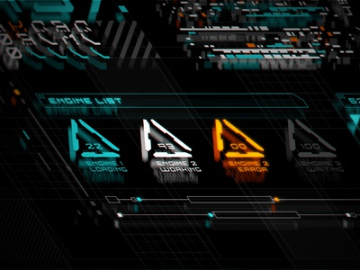 CyberPunk UI 04 space interface game ui futuristic future cyberpunk cyber sci fi sci-fi scifi pattern icon typography ux ui vector