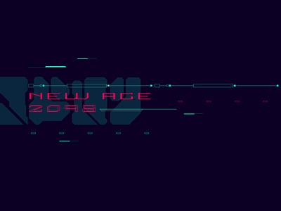 CyberPunk UI 03 poster tech font letter cyberpunk cyber sci fi sci-fi scifi illustration pattern typography ux ui vector
