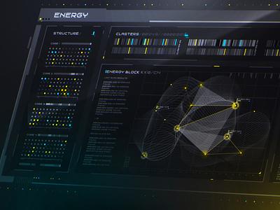 Sci fi UI Set movie interface cyberpunk sci-fi scifi illustration ux ui gradient vector