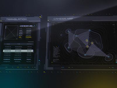 Sci Fi Window UI movie app movie yellow interface cyber cyberpunk sci-fi scifi illustration ui ux gradient vector