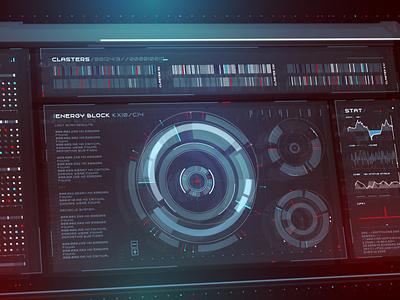 Sci Fi Interface futuristic space cyberpunk cyber scifi app ux ui gradient vector