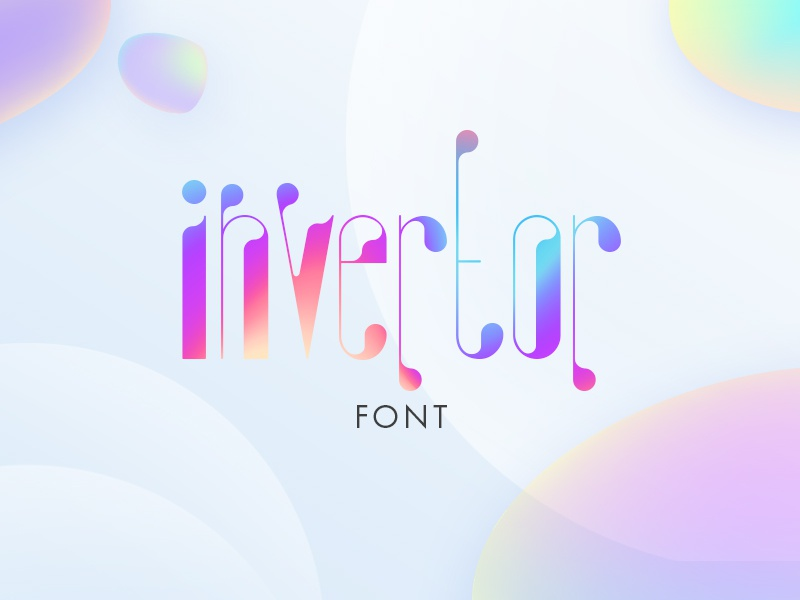Invertor. Free font typography typeface decorative letters freebie free font