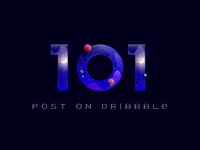 Hooray! 101 post on Dribbble!