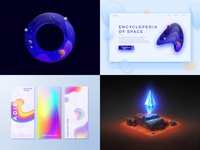 4 top images in 2018. According to Dribbble