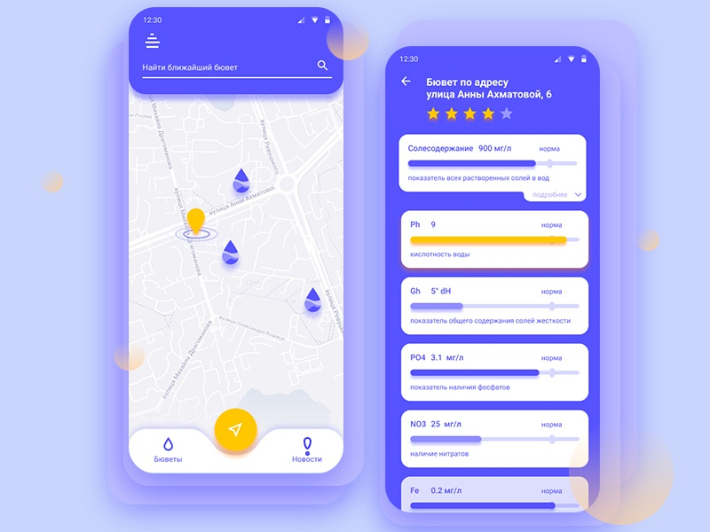 Find clean water figma clean drop blue and yellow blue route ui  ux dailyui water ios mobile applicaiton web app ux design gradient illustration ui vector