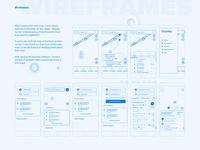 Public transport app. Wireframes