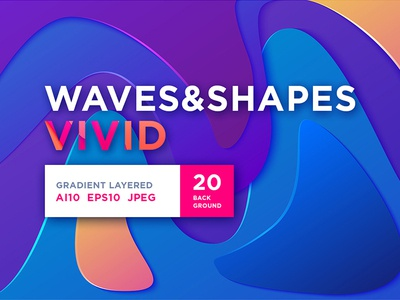 Waves&Shapes Vivid design branding gradient pink bright vivid pattern liquid fluid orange blue graphic layered stylish luxury paper cut paper vector wave