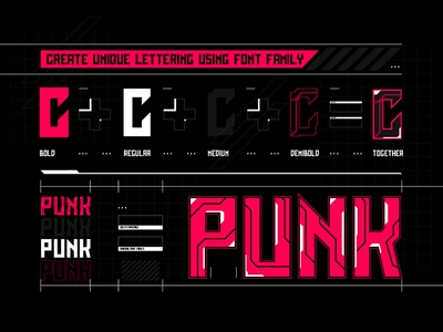 Cyber Grotesk. How to use letter typeface type 1980 futurism technology tech cyberpunk cyber scifi font vector typography
