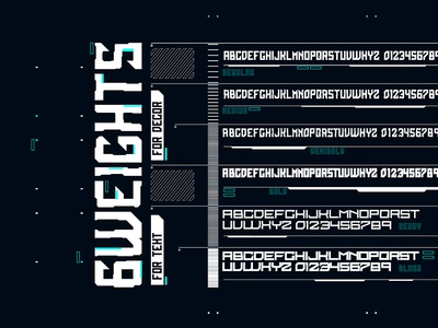 Cyber Grotesk. Font weights sans serif bold font typeface type letter technology tech futurism cyberpunk cyber scifi font vector typography