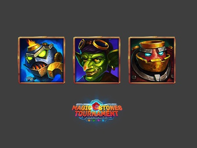 Bots icon concept 2dart goblin magic steampunk mechanic characterdesign person game art game ui character ui