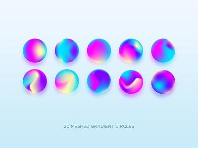 Gradient Circle 2 modern vivid holography hologram neon logo branding design ui illustration gradient vector