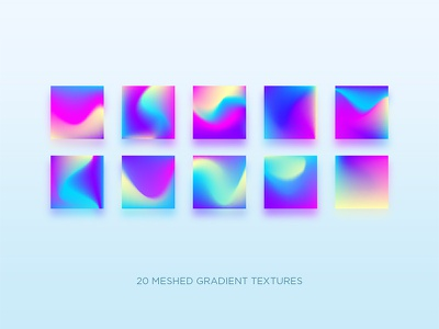 Gradients holographic holography hologram neon web app branding ui design illustration gradient vector