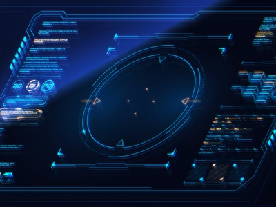HUD. Game UI cyber sci-fi interface scifi space ux icon typography design ui illustration gradient vector