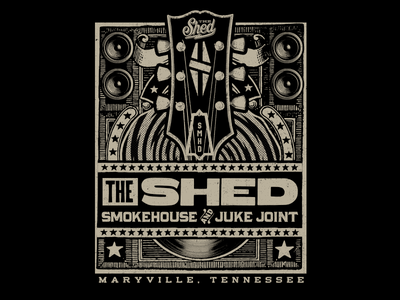 The Shed guitar maryville tennessee tn smoky mountains harley davidson