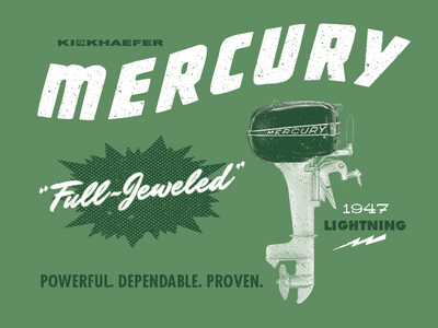 The Kiekhaefer Collection for Mercury Marine engines motors fishing boating marine mercury