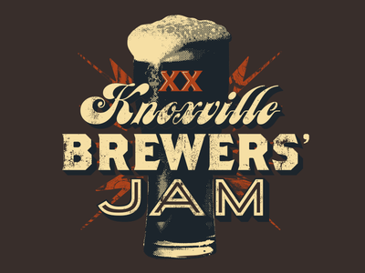 Official Brewers' Jam 2016 Merch 20th jam k-town knoxville porter stout ale brewery brewer tennessee tn beer
