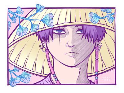Ginkgo Boy daechwita min yoongi agust d suga bts ginkgo digitalpainting mangaart aesthetic fanart digitalart anime drawing manga illustration
