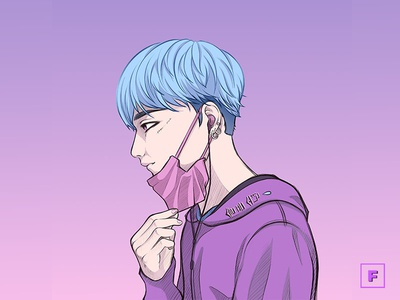 Korean Boy streetwear korean korean boy mangaart aesthetic digitalpainting digitalart drawing manga illustration