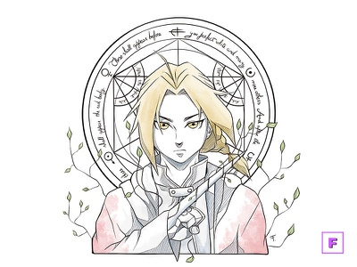 Edward Elric fma edward elric alchemy fullmetal alchemist traditionalart mangaart digitalpainting fanart anime digitalart drawing manga illustration