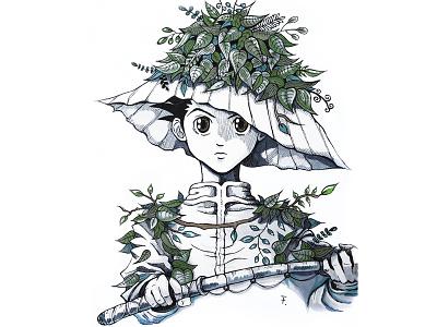 Gon copicmultiliner copic fanart mangaart traditionalart illustration drawing anime manga gon hxh hunterxhunter