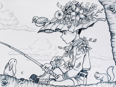 Gon traditionalart sketch pencil gon manga illustration hunterxhunter fanart drawing doodle anime