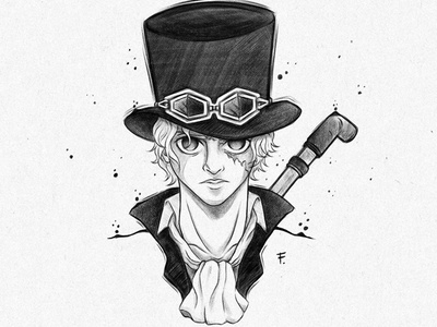 Sabo steampunk traditionalart pirate onepiece manga luffy illustration drawing digitalpainting digitalart anime sabo
