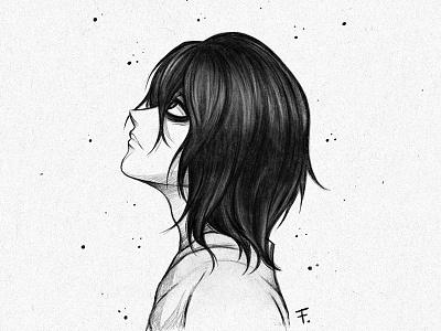 L x Death Note ipadpro procreate digitalpainting mangaart deathnote fanart anime digitalart traditionalart drawing manga illustration