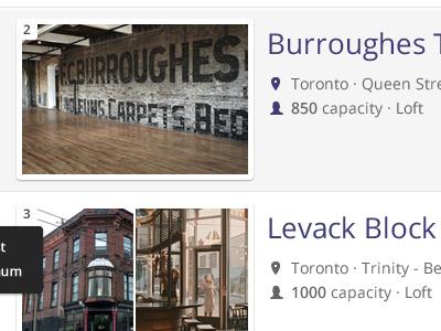 Venue Listings venue photos listing